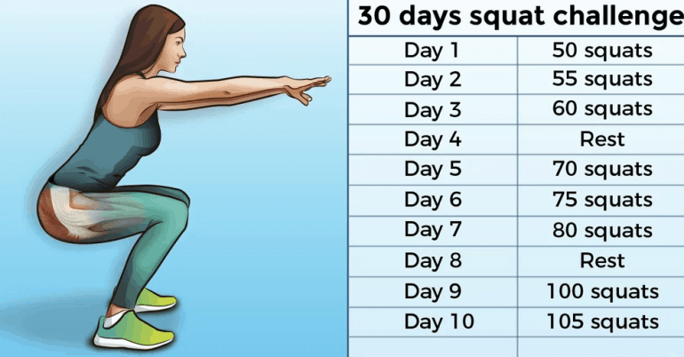 30-Day Squat Challenge That Can Help You Get the Butt of Your Dreams 2