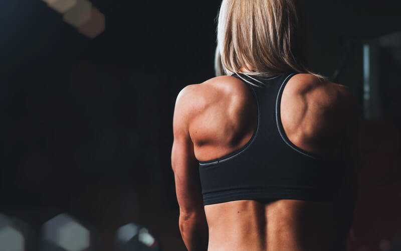 woman with fit back