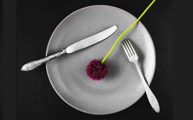 plate with a flower