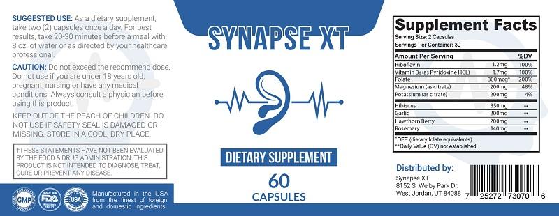 Synapse XT Review 2021- Best Tinnitus Supplement?